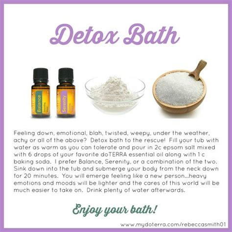 How To Make A Detox Bath With Essential Oils by Detox Detox Baths And Doterra On