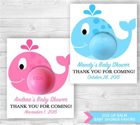 eos card template whale baby shower favors with eos lip balm personalized
