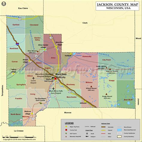 jackson usa maps jackson county map wisconsin