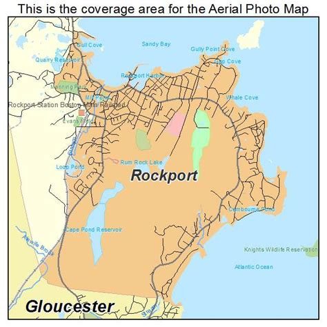 rockport map aerial photography map of rockport ma massachusetts