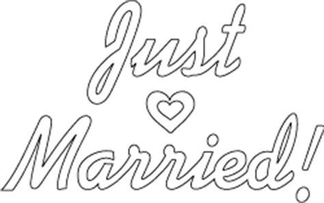 just married sign template or coloring page