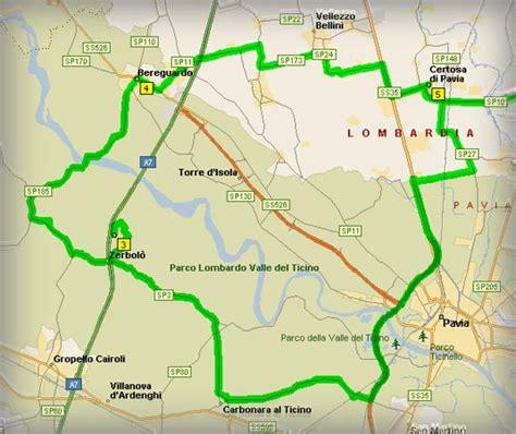 mappa certosa di pavia parco ticino certosa di pavia marmary itinerari