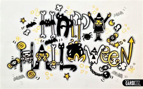 imagenes de halloween letras dibujando tutoriales feliz halloween tutorial c 243 mo