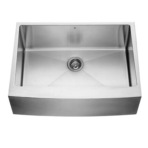 Where Are Vigo Sinks Made by Vigo Farmhouse Apron Front 30 In Single Bowl Kitchen Sink