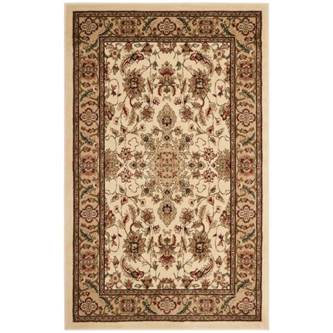 3 area rug safavieh lyndhurst ivory 3 ft 3 in x 5 ft 3 in