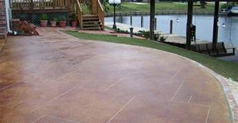 staining existing concrete patio