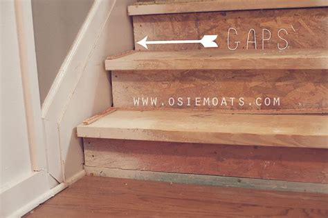 How to fix gaps in unfinished stairs. DIY $50 STAIR