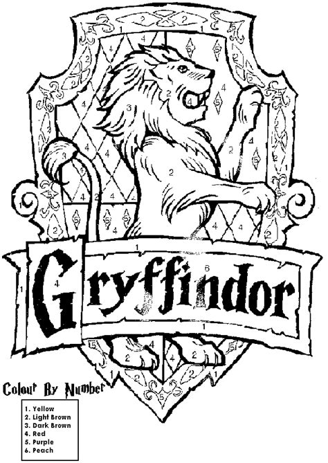 free coloring pages of hogwarts symbol
