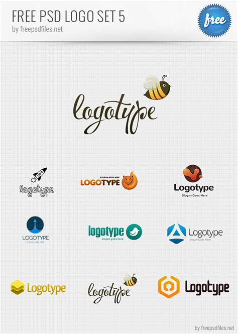 logos free templates free psd logo design templates pack 5 free psd files