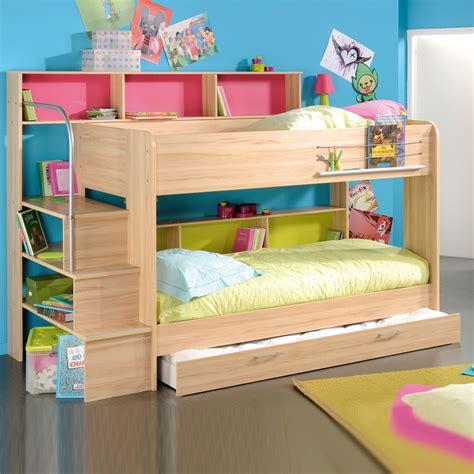 hochbett stauraum etagenbett bibop hochbett buche oder wei 223 dekor mit treppe