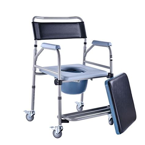 shower transport wheelchair shower chair with wheels commode chair and padded toilet