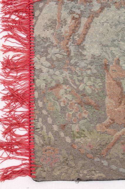 vintage velvet plush tapestry wall hanging rug deer
