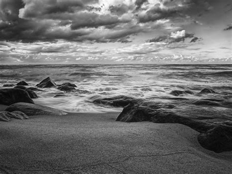 Black And White Ocean Wallpaper | black and white ocean 1600x1200 wallpaper nature oceans