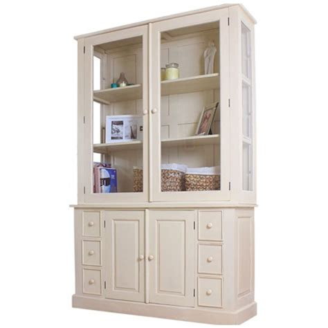 Display Cabinets With Glass Door Marios Mahogany 2 Glass Door Display Cabinet With Sideboard