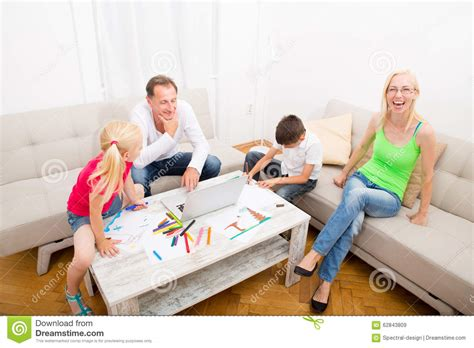 happy family at home stock photo image 62843809