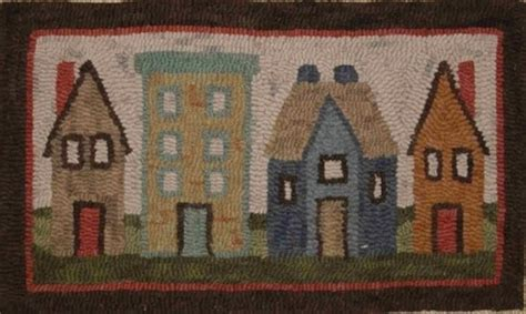 Hooked Rug Kits For Sale by Row Of Houses Kit Martina Lesar