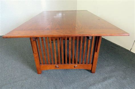 solid oak craftsman mission style dining room table