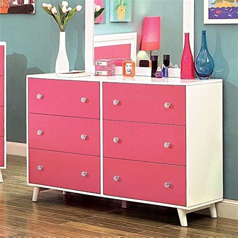 white and pink solid wood bedroom furniture sets