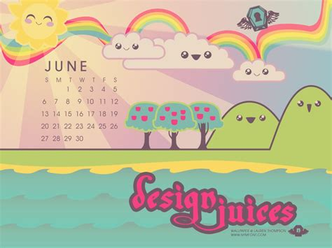 kawaii design juices calendar  nymphont  deviantart