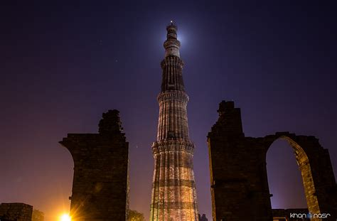 qutub minar biography in english file qutab minar at night jpg wikimedia commons
