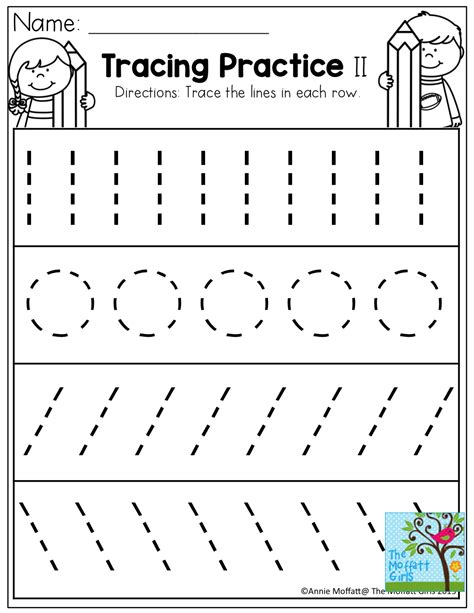 kindergarten activities writing tracing practice tons of printable for pre k