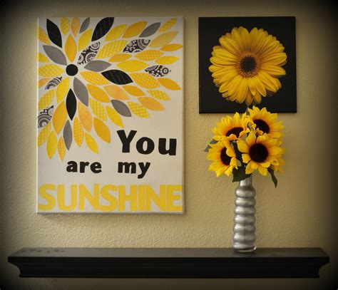 You are my sunshine canvas wall decor
