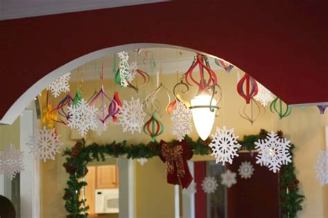 easy to make christmas decorations at home high impact low budget paper craft decorations