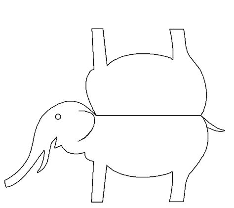 elephant cut out template cut out elephant pattern www imgkid the image kid