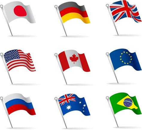flags of the world vector images world flags waving free vector in adobe illustrator ai