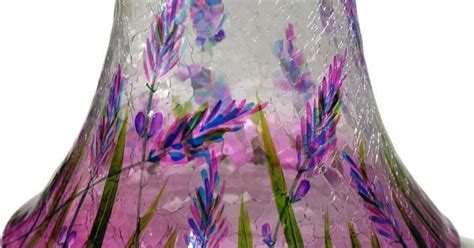 yankee candle kerzenhalter yankee candle lavender fields crackle glass shade