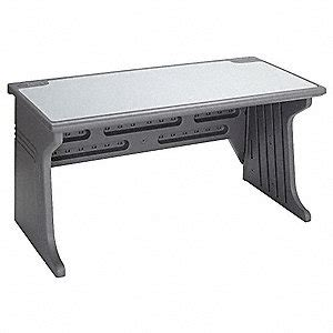 Iceberg System Desk 60 X 30 X 28 In Charcoal 16x005 Rubbermaid Computer Desk