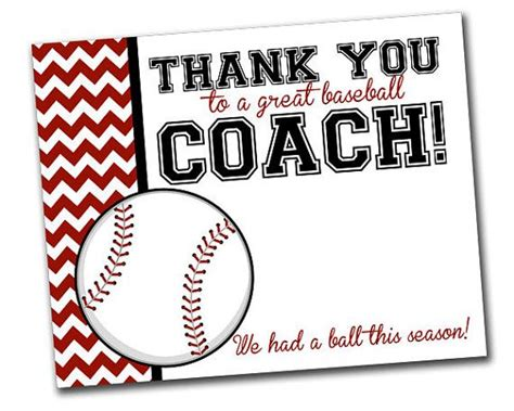 thank you card thank you coach cards lovely cricket coach thank
