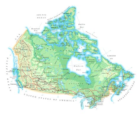 geographical map of canada map geography map of canada city geography