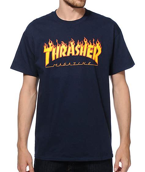 Trasher Logo Tees 1 thrasher logo t shirt zumiez