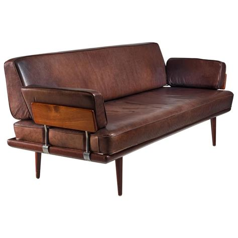 Cushions For Brown Leather Sofa Hvidt And Orla M 248 Lgaard Nielsen Sofa With Brown Leather Cushions Denmark At 1stdibs