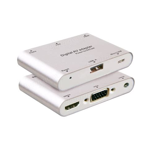 Lightning To Hdmi Vga Audio Konverter Iphone To Hdmi Vga Converter digital av adapter micro usb to vga hdmi audio