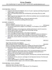Career Objective For Executive Assistant Resume Objective Executive Administrative Assistant