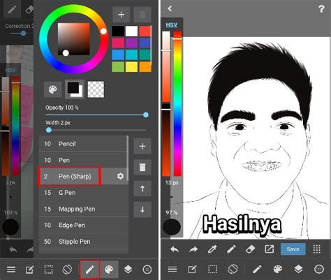 langkah membuat foto menjadi kartun cara edit foto jadi kartun di medibang paint android