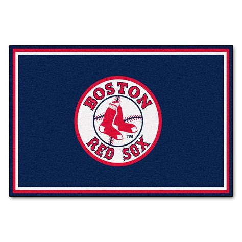 sox rug fanmats boston sox 5 ft x 8 ft area rug 6964 the home depot