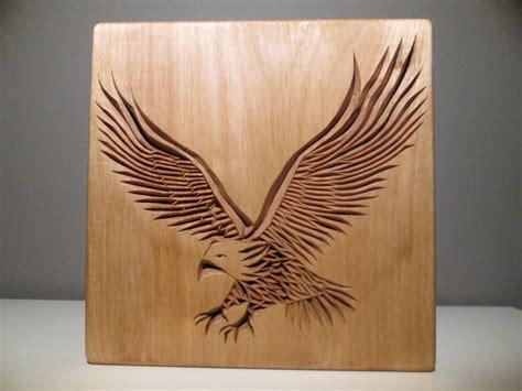wood animal pattern eagle carved eagle chip carving wood carving wooden