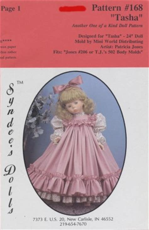 doll emporium pattern company tasha dress pattern for 24 porcelain doll syndee s dolls