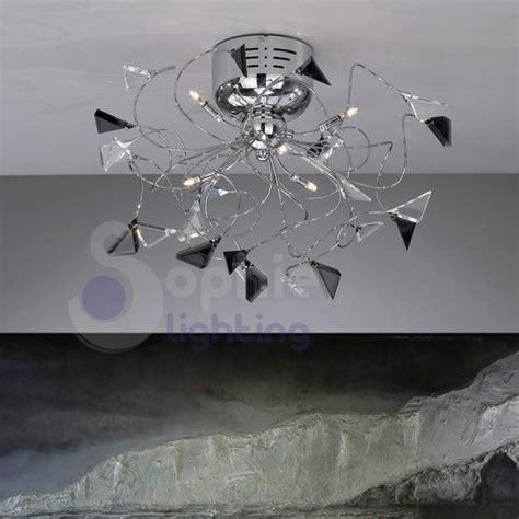 plafoniera soffitto led plafoniera led soffitto bracci cormati cristalli neri