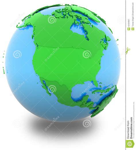 globe map l shade north america on the globe stock illustration image