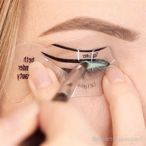 tutorial eyeliner stencil best 25 winged eyeliner stencil ideas on pinterest how