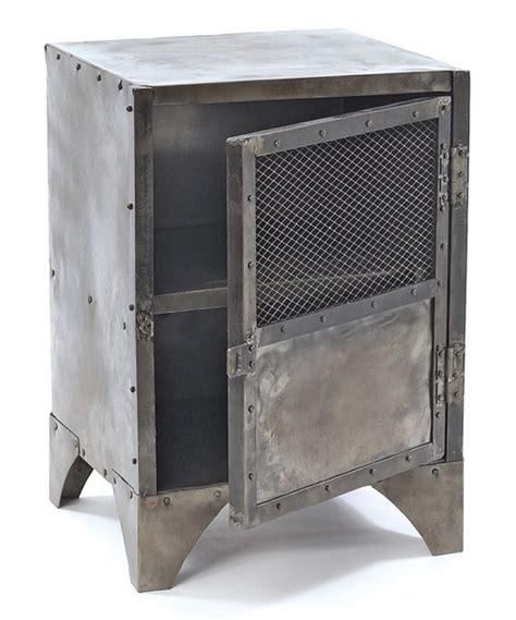 Metal Locker Nightstand Vintage Steel Shoe Locker