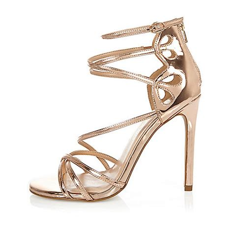 gold sandals wide fit gold tone wide fit strappy sandals sandals shoes