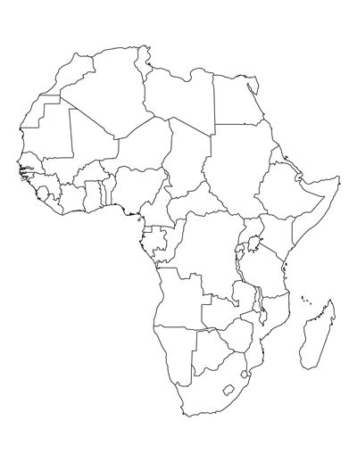 printable map of africa for students and africa map