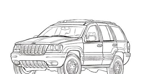 jeep cherokee coloring pages jeep grand cherokee cars coloring pages cars coloring