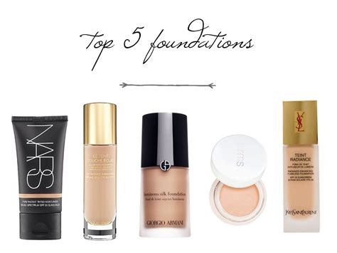 My Top 5 Foundations by My Top 5 Foundations