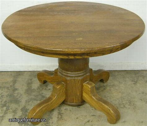 antique oak pedestal dining room table at antique